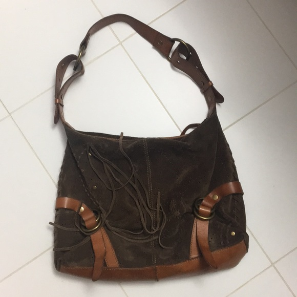 Lucky Brand Handbags - Lucky Brand suede & leather bag